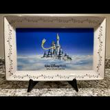 Disney Accents | 1997 Disney World 25th Anniversary Plate | Color: Blue/White | Size: 15 12 X 10