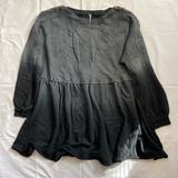 Free People Dresses | Free People Marlena Dress Oversized Babydoll Dress | Color: Black/Gray | Size: Xxl