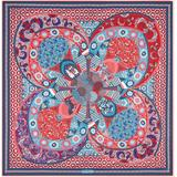 Monile Print Silk Foulard - Red - Ferragamo Scarves