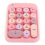 Wireless Numeric Keypad, Mini 2.4G 18-Keys Wireless Numeric Keypad Vintage Colorful Round Cap Num Keyboard, for Students, Accountant, Office, Financial Accounting,etc