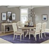 Hillsdale Rockport 7-Piece Round/Oval Dining Table with Side Chairs, Set, White