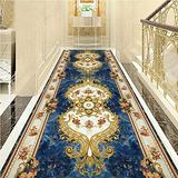 KANULAN Hallways Carpets Jacquard Runner Rugs Floral Throw Carpet Contemporary Printed Mat for Hallway Entryway Modern Home Dector Multi Size Runner Hallway (Color : A, Size : 0.8X3m)