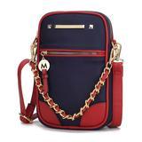 MKF Collection by Mia K. Women's Crossbodies Navy - Navy & Wine Sue Chain-Accent Crossbody Bag