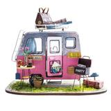 Flash Popup DIY Happy Camper Dollhouse, Size 5.9 H in   Wayfair DGM04