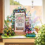 Flash Popup DIY Garden Entrance Dollhouse Wood in Brown, Size 6.9 H in   Wayfair DGM02