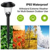 UZRENO Low Voltage Integrated LED Pathway Light Plastic/Metal in Black, Size 16.7 H x 4.8 W x 4.8 D in | Wayfair fliu6-LHC-Cool White-8pack