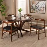 George Oliver Baarde 5 - Piece Dining SetWood/Upholstered Chairs in Brown, Size 29.5 H x 57.0 W x 57.0 D in | Wayfair