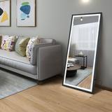 Brayden Studio® LED Full Length Mirror Wall Mounted Lighted Floor Mirror Dressing Mirror Make Up Mirror Bathroom/Bedroom/Living Room/Dining Room/Entry