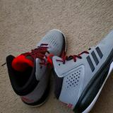 Adidas Shoes   Cross Em Up 5 Basketball Shoe - Kids'   Color: Red/Silver   Size: 2.5b