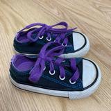 Converse Shoes | Converse Blue Purple Sneakers Sz 4 Kids Baby Shoe | Color: Blue/Purple | Size: 4bb