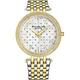 Stuhrling Original Women's Classic Dress Watch with Stainless Steel Link Bracelet (Gold -A)