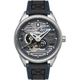 Hawker Harrier Xv741 B Automatic Admiral Steel Blue Genuine Leather And Nylon Strap Watch, 44mm - Blue - AVI-8 Watches