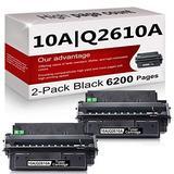 2 Pack Compatible 10A | Q2610A Toner Cartridge Replacement for HP Laserjet 2300 Printer 2300n 2300d 2300dtn Printer 2300L Printer 2300dn Printer Toner Cartridge.