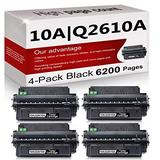 4 Pack Compatible 10A | Q2610A Toner Cartridge Replacement for HP Laserjet 2300 Printer 2300n 2300d 2300dtn Printer 2300L Printer 2300dn Printer Toner Cartridge.