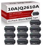 10 Pack Compatible 10A | Q2610A Toner Cartridge Replacement for HP Laserjet 2300 Printer 2300n 2300d 2300dtn Printer 2300L Printer 2300dn Printer Toner Cartridge.