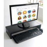 eDooFun Desk Organizers Black - Black Monitor Stand