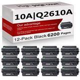 12 Pack Compatible 10A | Q2610A Toner Cartridge Replacement for HP Laserjet 2300 Printer 2300n 2300d 2300dtn Printer 2300L Printer 2300dn Printer Toner Cartridge.