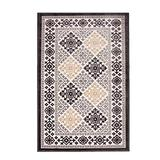 Blue Nile Mills Modern Diamond Geometric Indoor Area Rug Collection, Floral and Diamond Scatter Accent or Area Rug with Durable Latex Spray Backing, 5 x 8', Ivory-Charcoal