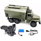 Zhangl 1/16 2.4G 6Wd RC Car Rock Crawler Command Communication Vehicle RTR Toy Auto Army Trucks Boys Toys for Children