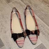 J. Crew Shoes   Guc J Crew Plaid Choc Brown Bow Dress Shoes   Color: Brown/Red   Size: 8