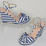 Kate Spade Shoes   Kate Spade New York Janae Bluecream Striped Canva   Color: Blue/White   Size: 11