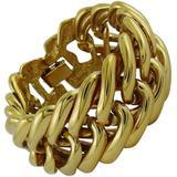 Ysl Vintage Classic Gold Toned Curb Chain Bracelet - Metallic - Saint Laurent Bracelets