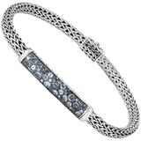 Women's Silver Bracelet With Topaz, Bbs902364mbtbzxm - Blue - John Hardy Bracelets
