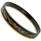 Herms Tchotchke Enamel And Gold Narrow Bracelet Bangle - Metallic - Hermès Bracelets