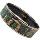 Herms Cachemire De Tamara Enamel And Palladium Bracelet Bangle - Black - Hermès Bracelets