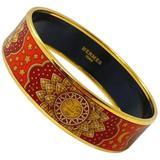 Herms & Orange Enamel Soleil Bracelet Bangle - Red - Hermès Bracelets