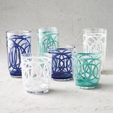 Cabo Acrylic Drinkware, Set of Six - Blue, DOF Blue - Frontgate
