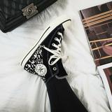 Converse Shoes | Converse Suede Leopard Print Hi Top | Color: Black/White | Size: 6.5