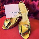 Kate Spade Shoes   Kate Spade Peep-Toe Kitten Heels   Color: Gold   Size: 7.5