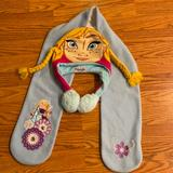 Disney Accessories | Frozen Hat And Scarf Set | Color: Red | Size: Osg