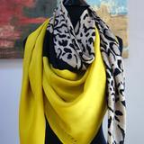 Gucci Accessories | Gucci Lotti Leopard Animal Print Silk Shawl Scarf | Color: Gold/Tan | Size: Os