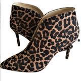 Jessica Simpson Shoes | Jessica Simpson Leopard Print Ankle Boots Size 8 | Color: Black/Brown | Size: 8