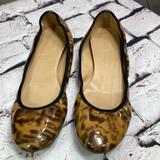 J. Crew Shoes   10 J.Crew Patent Leather Leopard Print Ballet Flat   Color: Tan   Size: 10