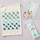 Anthropologie Other | Anthropologie Travel Backgammon And Checkers Set | Color: Blue/Cream | Size: Dimensions 21l, 14w