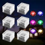 Solar Lights Outdoor - Outdoor Garden Lights, Color Changing LED Solar Powered Pathway Lights, Outdoor Landscape Lighting for Lawn/Patio/Yard/Walkway/Driveway (6pack Colorful)