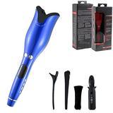Curling iron Straight hair splintNano Titanium Flat Iron Ceramic Perm Straightening Hair Curler Hair Curler LED Display Electric Straightener American Plug Blue