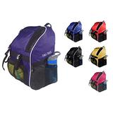 Tiki-Taka Soccer Backpack - Basketball Backpack - Youth Kids Ages 6 and Up - with Ball Compartment - All Sports Bag Gym Tote Soccer Futbol Basketball Football Volleyball (Purple)