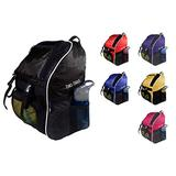 Tiki-Taka Soccer Backpack - Basketball Backpack - Youth Kids Ages 6 and Up - with Ball Compartment - All Sports Bag Gym Tote Soccer Futbol Basketball Football Volleyball (Black)