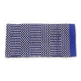 Mayatex Ramrod Doubleweave Saddle Blanket, Royal/Black/Cream, 32 x 64-Inch