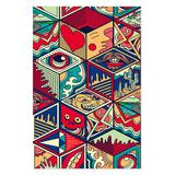 Teka Puzzle Puzzles Mixed - Pop Art Hexagon Wooden 1,000-Piece Puzzle