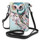 Crossbody Cell Phone Purse Animal Owl Small Crossbody Bags Women Pu Leather Shoulder Bag Handbag