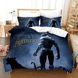 Boys/Kids/Teens/Girls Bedding Set Black Panther Bed Set Superhero Bedding Set for Men Teens, Bedding Duvet Cover Set Black Panther Bedding Twin