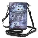 Crossbody Cell Phone Purse Arctic Owl Small Crossbody Bags Women Pu Shoulder Bag Handbag