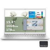 2021 Dell Inspiron 15 5000 15.6 inch FHD Laptop, 11th Gen Intel Quad-Core i5-1135G7, 16GB DDR4 RAM, 1024GB PCIE SSD, Intel Iris Xe Graphics, Fingerprint, WiFi6, Woov Sleeve-Windows 10(Latest Model)