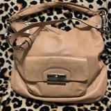 Coach Bags | Coach Soft Leather Hobo Crossbody Bag | Color: Silver/Tan | Size: Large