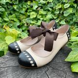 Anthropologie Shoes   Anthropologie All Black Mary Jane Bow-Tie Heels   Color: Black   Size: 7.5